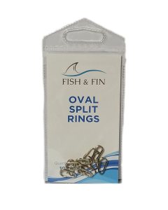 Fish & Fin Oval Split Rings 13mm
