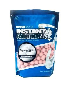 Nash Instant Action Strawberry Crush Boilies 15mm 1kg