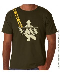 Vass Cotton Printed T-Shirt Green with Yellow Printed Vass Strap
