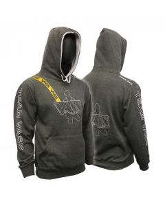 Team Vass Edition Two Colour Hoody Charcoal/Grey With Yellow Print Brace