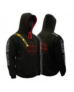 Team Vass Edition Two Colour Hoody Black/Red With Yellow Print Brace